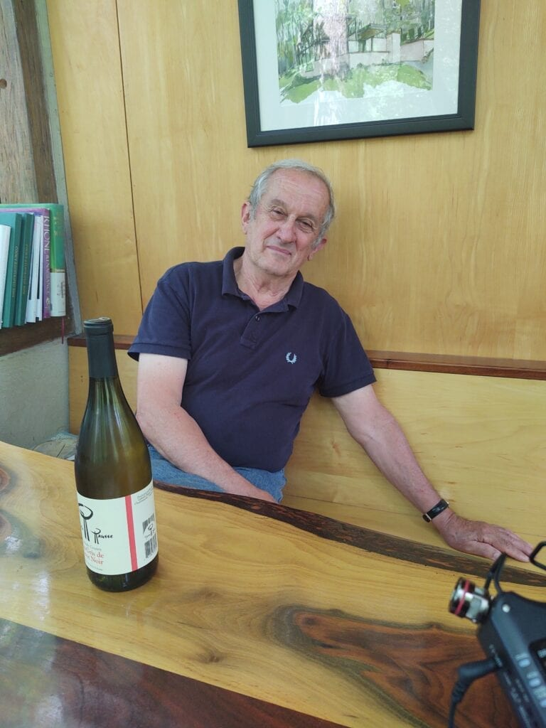 Gabriele Rausse as he relaxed at his winery during my interview in early August of 2020